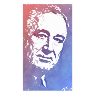 Pop Art Portrait of FDR in Red and Blue Business Card