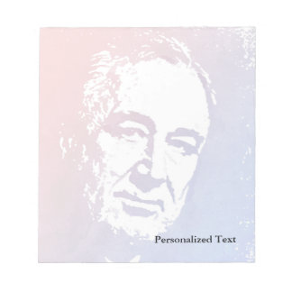 Pop Art Portrait of FDR in Red and Blue Notepad
