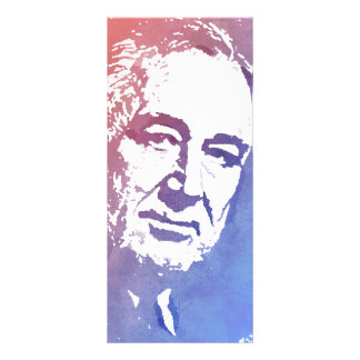Pop Art Portrait of FDR in Red and Blue Rack Card