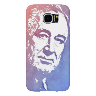 Pop Art Portrait of FDR in Red and Blue Samsung Galaxy S6 Cases