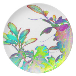 Pop Art Psychedlic Floral Abstract Designer Style Dinner Plate