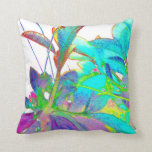 Pop Art Psychedlic Floral Abstract Designer Style Throw Pillow