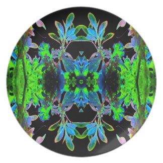 Pop Art Psychedlic Floral Abstract Designer Style Plates