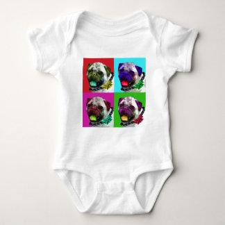 Pop Art Pug Baby Bodysuit