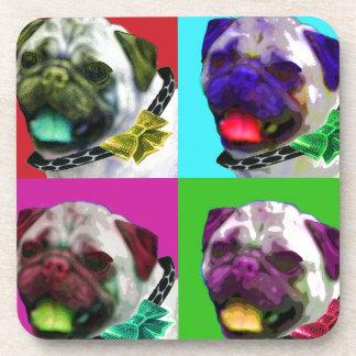 Pop Art Pug Beverage Coaster