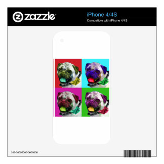 Pop Art Pug Decals For The iPhone 4S