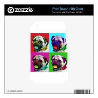 Pop Art Pug iPod Touch 4G Skin