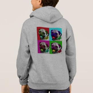 Pop Art Pug Kids Zip Hoodie