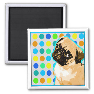 Pop Art Pug Magnet