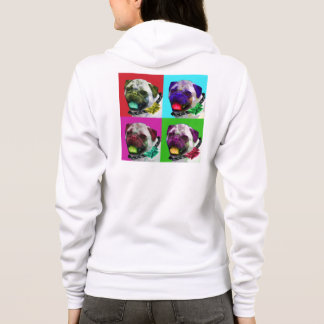 Pop Art Pug Women's Zip Hoodie