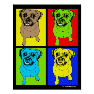 Pop Art Puggle Poster