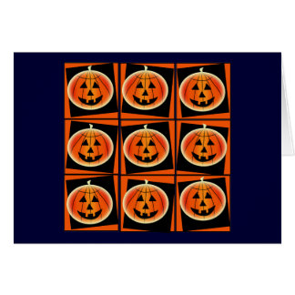 Pop Art Pumpkin Power Halloween Card