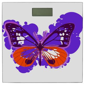 Pop Art Purple Butterfly Bathroom Scales