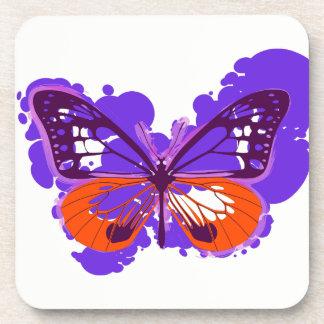 Pop Art Purple Butterfly Coasters