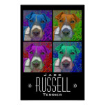 Pop Art Quad Jack Russell Terrier Posters