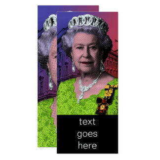 Pop Art Queen Elizabeth II Card