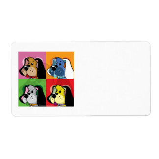 Pop Art Quilt Dog Custom Shipping Labels
