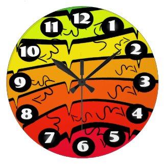 Pop Art Rainbow Colors Colorful Fun CricketDiane Large Clock