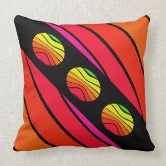 Pop Art Rainbow Colors Urban Trendy CricketDiane Throw Pillow
