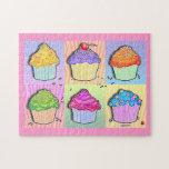 Pop Art Rainbow Cupcakes Puzzle