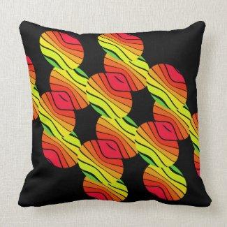 Pop Art Rainbow Spectrum Colorful CricketDiane Throw Pillow