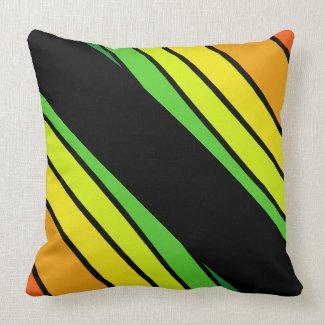 Pop Art Rainbow Trendy Happy Decor CricketDiane Throw Pillow