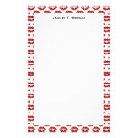 Pop Art: Red Lipstick Kisses Stationery