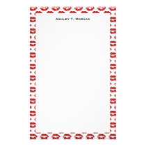 Pop Art: Red Lipstick Kisses Stationery