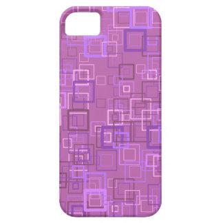Pop art retro pop squares purple (lilac) iPhone 5 cases
