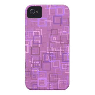 Pop art retro pop squares purple (lilac) iPhone 4 Case-Mate cases