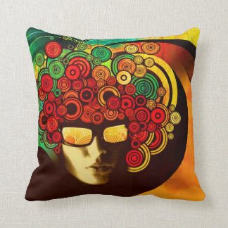 pop art retro throw pillow