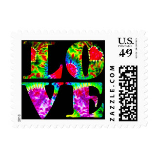 Pop Art / Retro tie-dye LOVE stamps