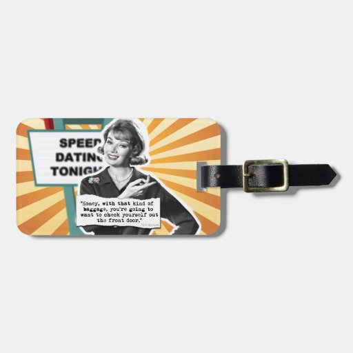 Pop Art Retro Woman Baggage Tags For Bags
