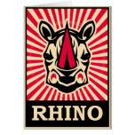 Pop Art Rhinoceros Card