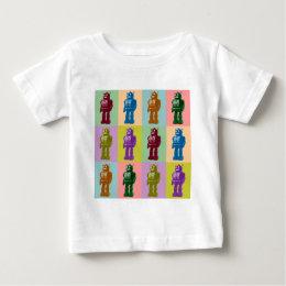 Pop Art Robots Baby T-Shirt