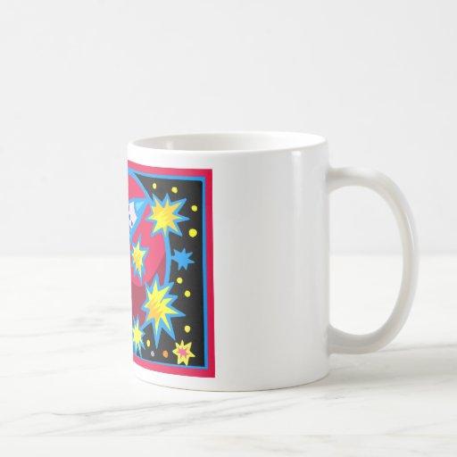 Pop Art Rocket Coffee Mugs