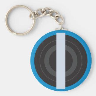Pop Art Roller Derby Pivot Stripe Keychain