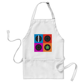 Pop Art Roller Derby Symbols Adult Apron