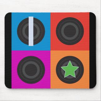 Pop Art Roller Derby Symbols Mouse Pad