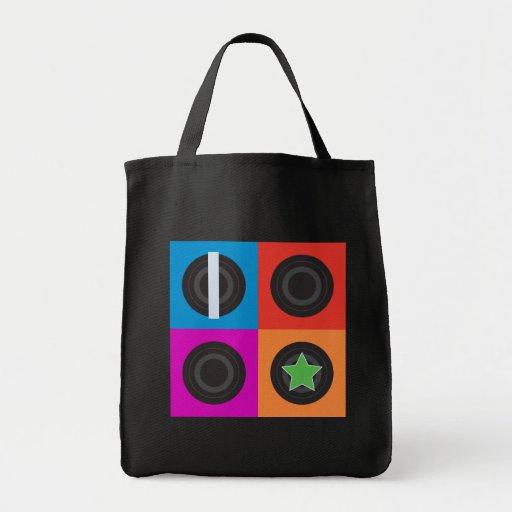 Pop Art Roller Derby Symbols Tote Bags