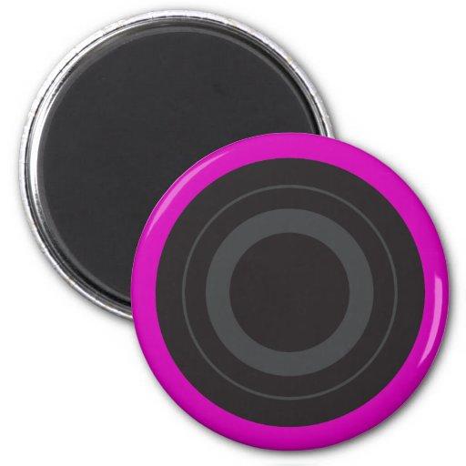 Pop Art Roller Derby Wheel (Hot Pink) 2 Inch Round Magnet