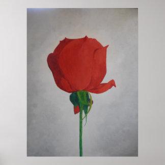 Pop-art Rose poster