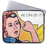 Pop Art Rosie the Riveter Roy Lichtenstein Computer Sleeves