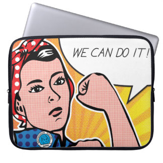 Pop Art Rosie the Riveter Roy Lichtenstein Computer Sleeves