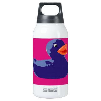 Pop Art Rubber Ducky Blue Pink Duck Insulated Water Bottle