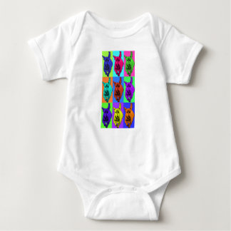 Pop Art Running Dachshund Ears Flapping Baby Bodysuit