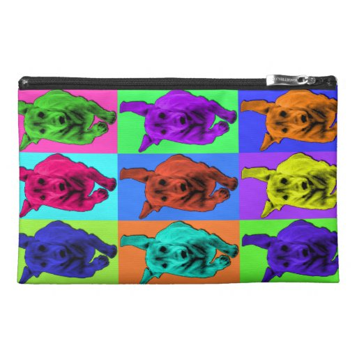 Pop Art Running Dachshund Ears Flapping Travel Accessories Bag