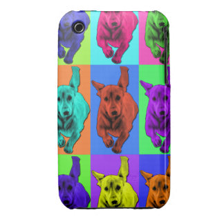 Pop Art Running Dachshund Ears Flapping iPhone 3 Covers
