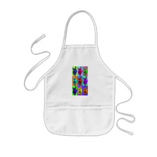 Pop Art Running Dachshund Ears Flapping Kids' Apron