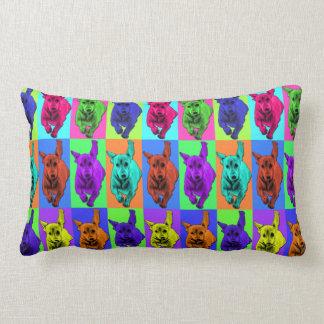 Pop Art Running Dachshund Ears Flapping Pillows